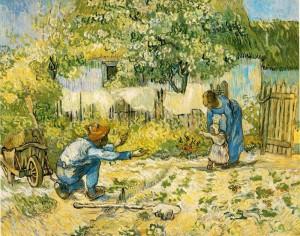 """«Frappe sur quelque chose si tu vois une toile blanche qui te fixe de façon imbécile. Tu ne sais pas à quel point c'est paralysant, cette toile blanche qui te fixe, et qui dit au peintre: """"Tu ne sais rien."""""""" Van Gogh"""